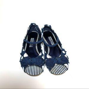 Kenneth Cole Peep-Toe Polka Dot Sandals